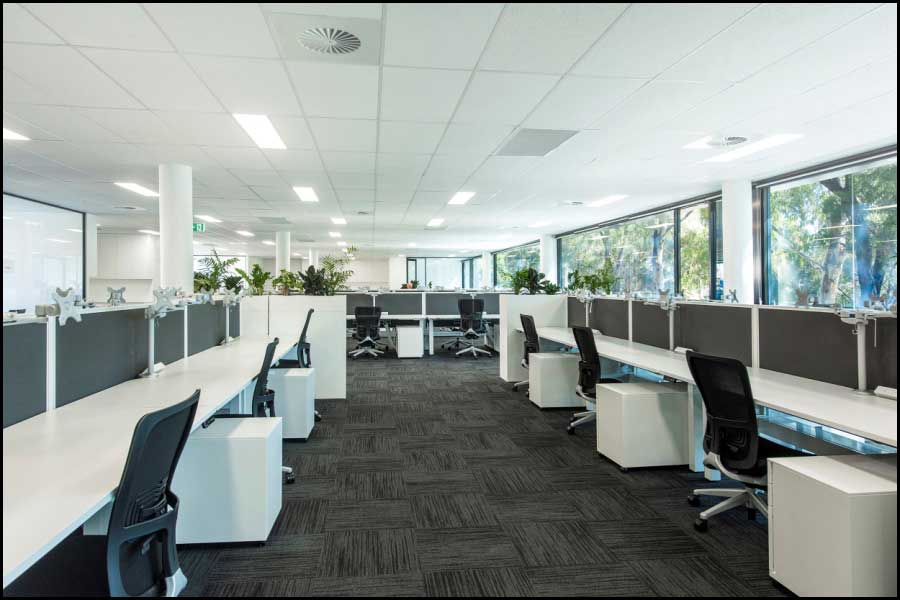 Open Plan Area - Office Fitout Perth
